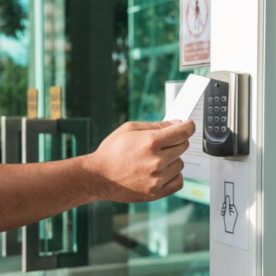 Keycard at door entry